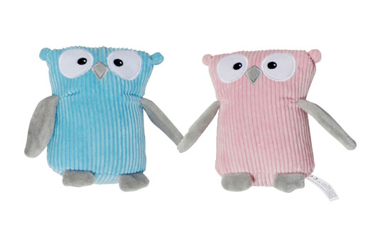 Cute Pink and Blue Plush Owl Dog Toys
